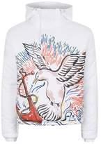 Topman DESIGN Seagull Print Puffer Jacket