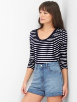Gap Stripe scoopneck tee