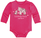 Carhartt Pink Peacock Cows 'Udderly Cute' Bodysuit - Infant