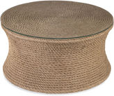 Bassett Mirror Olivia Woven Rope Coffee Table, Natural