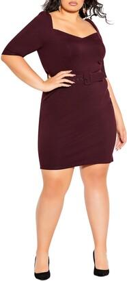 City Chic Illusive Sleeve Sheath Dress