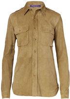 Ralph Lauren Suede Military Shirt