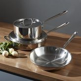 Crate & Barrel All-Clad ® Stainless 5-Piece Starter Cookware Set