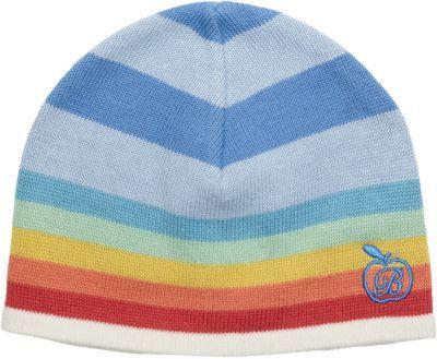 Bonnie Baby Striped Hat with Rainbow Trim