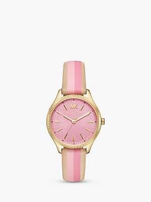 Michael Kors MK2809 Women's Lexington Leather Strap Watch, Multi/Pink