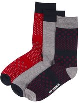 Ben Sherman Men's Circle Bamboo Socks (3 Pair) Odor Resistant Size 8-12 'Irwell'