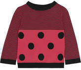 Moschino Striped Wool Sweater - Fuchsia