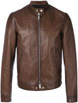 DSQUARED2 biker jacket - men - Cotton/Calf Leather/Polyester - 48