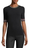 M Missoni Geometric-Trim Short-Sleeve Top