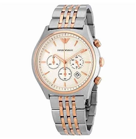 Emporio Armani Men's AR1998 Dress Two Tone Quartz Watch