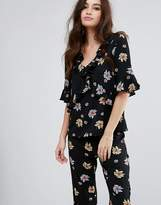 Fashion Union V Neck Top In Floral Co-Ord