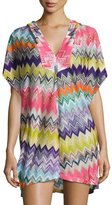 Missoni Mare Hooded Zigzag Beach Coverup Dress, Multicolor