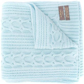 N.Peal Cable-Knit Cashmere Scarf