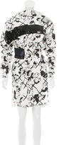 MSGM Embellished Abstract Dress