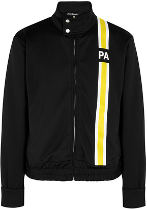 Palm Angels Black striped jersey track jacket