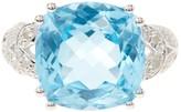Olivia Leone Sterling Silver Genuine Blue Topaz & White Genuine Diamond Ring