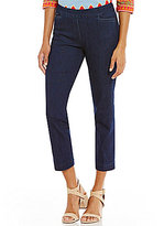 Multiples Petites Wide Waistband Pull-On Ankle Pants