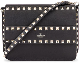 Valentino Rockstud Crossbody Camera Bag in Black | FWRD