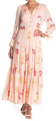 Dr2 By Daniel Rainn Floral Print Tiered Loop Detail Maxi Dress