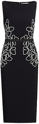 Ahluwalia Beaded Butterfly Sleeveless Cocktail Dress