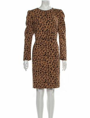 Donna Karan Animal Print Knee-Length Dress w/ Tags Brown