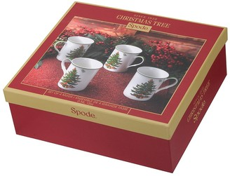 Portmeirion Spode Christmas Tree Mugs Set of 4