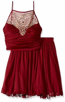 Bee Darlin Women's Two-Piece Spaghetti Strap Chiffon Dress