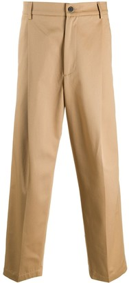 Barena High-Waisted Straight Leg Trousers