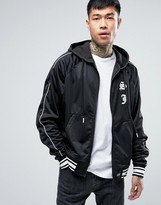 Sixth June Satin Track Jacket In Black