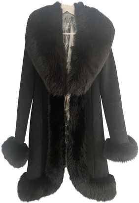 Flavio Castellani Black Wool Coat for Women