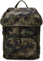 Valentino Green Nylon Camustars Backpack