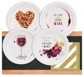 BuySeasons 32ct Wine Party Appetizer Pack with Chalkboard Runner