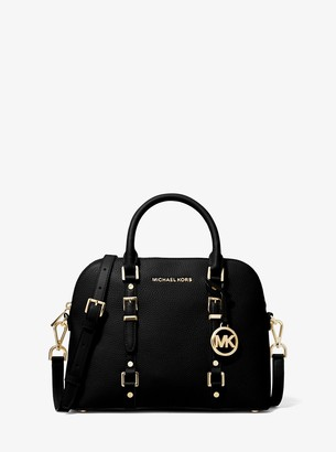 MICHAEL Michael Kors Bedford Legacy Medium Pebbled Leather Dome Satchel