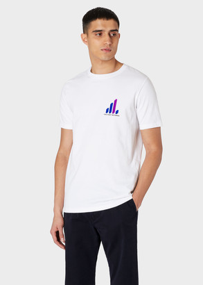Paul Smith x Factory Records - White 'Small Graph' Print T-Shirt