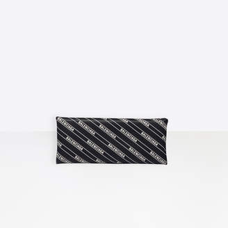 Balenciaga Monogram printed Hard Folded Clutch in black leather