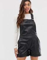 Muu Baa Muubaa Dorian short leather overalls