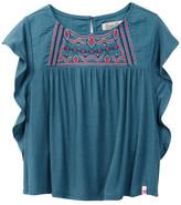 Lucky Brand Woven Knit Flowy Top (Little Girls)