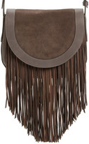 Frye Ray Fringe Leather Saddle Bag