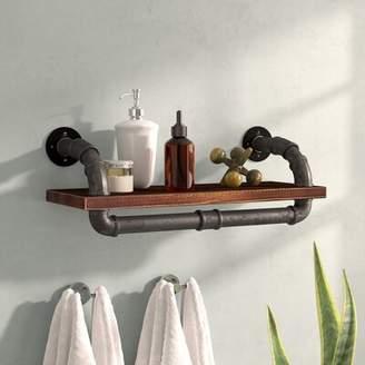 Trent Austin Design Duran Industrial Walnut Wood Floating Shelf Trent Austin Design