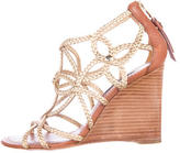 Louis Vuitton Braided Quatrefoil Wedges