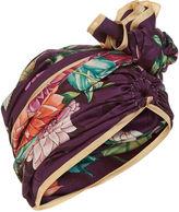 Dee Di Vita Purple Silk Dahlia Turban