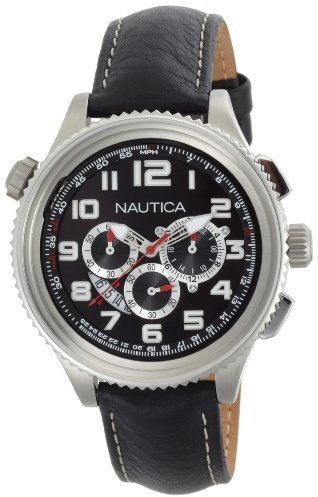 Nautica Men's N25012G OCN 46 Black Dial Watch