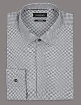 Autograph Supima® Slim Fit Mono Print Shirt