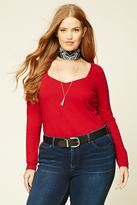 Forever 21 FOREVER 21+ Plus Size Sweetheart Top