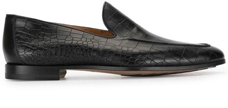 Magnanni Crocodile Embossed Loafers