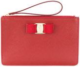 Salvatore Ferragamo Vara clutch bag - women - Leather - One Size