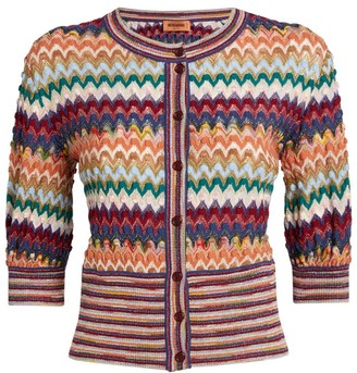 Missoni Lurex Fitted Button-Up Cardigan