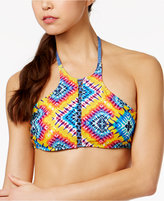 Jessica Simpson Surfside Reversible High-Neck Halter Bikini Top