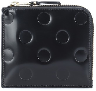 Comme des Garcons Dots Small embossed leather wallet