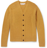 Marni Brushed Wool-Blend Cardigan